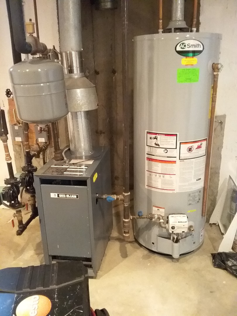 Milford, MA - Performed preventive maintenance on weil mclain gas boiler