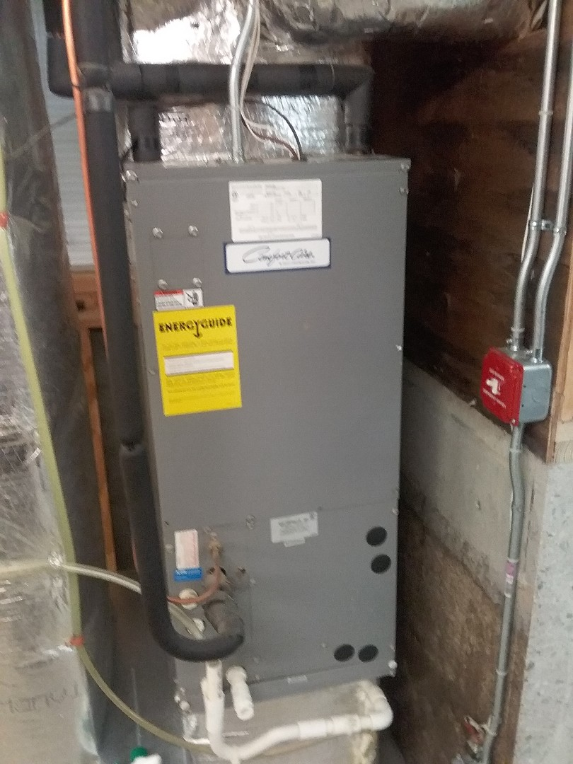 Millbury, MA - Service on a Comfort aire air handler