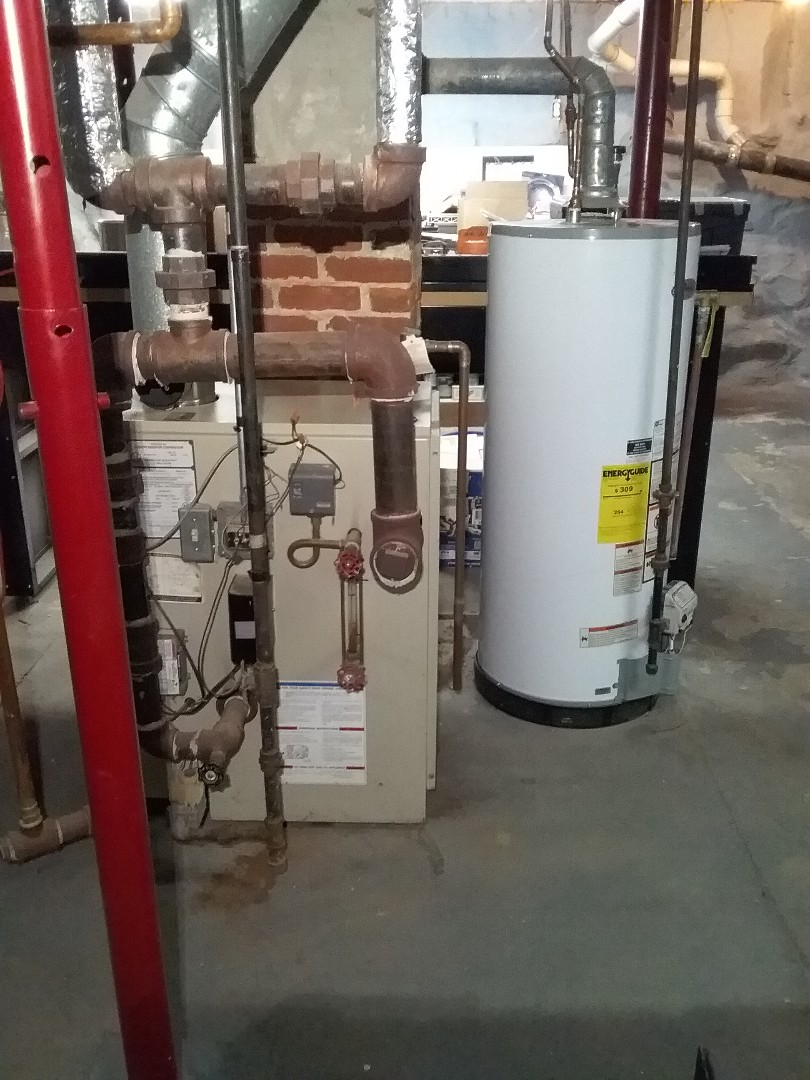 Auburn, MA - Performed preventive maintenance on bryant gas boiler and gas whirlpool water heater