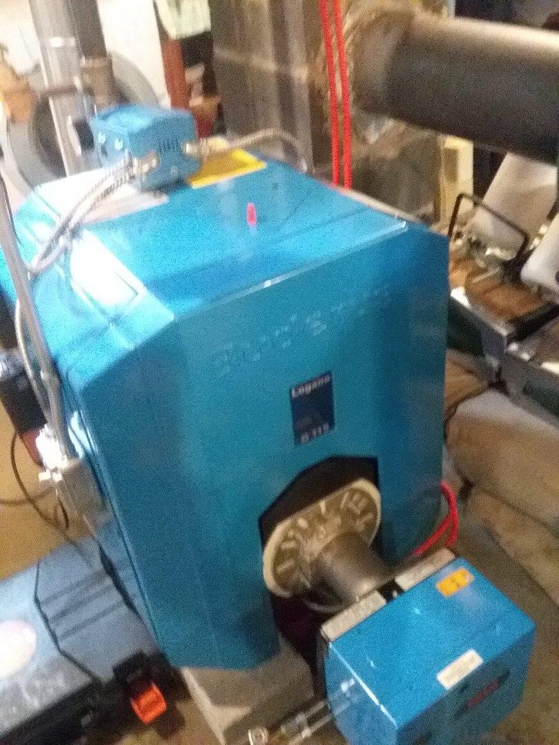 Auburn, MA - Service on a buderus boiler with a riello burner
