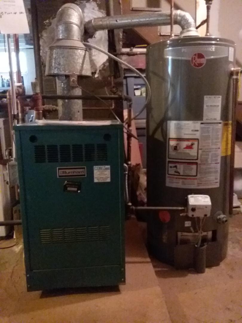 Auburn, MA - Service on a burnham boiler
