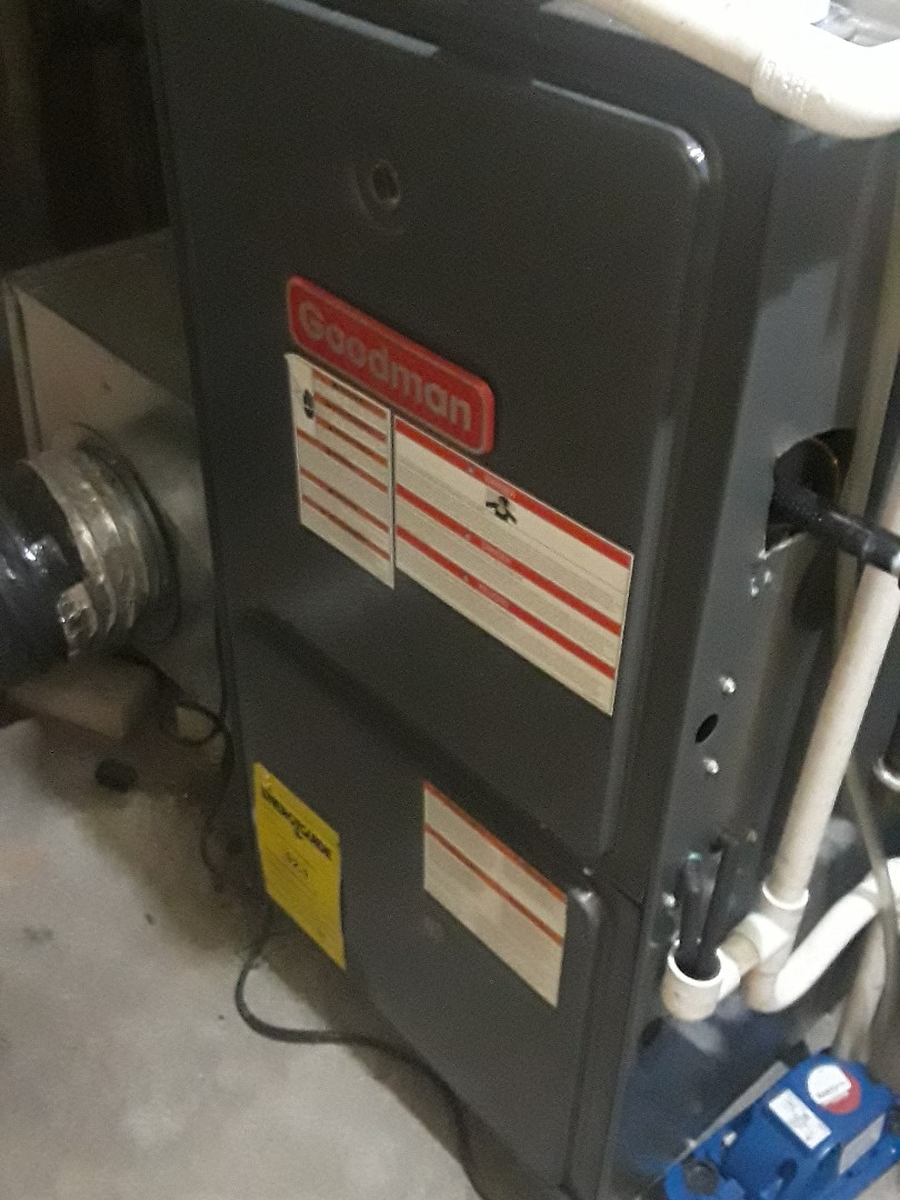Leominster, MA - Clean and check Goodman gas heating unit
