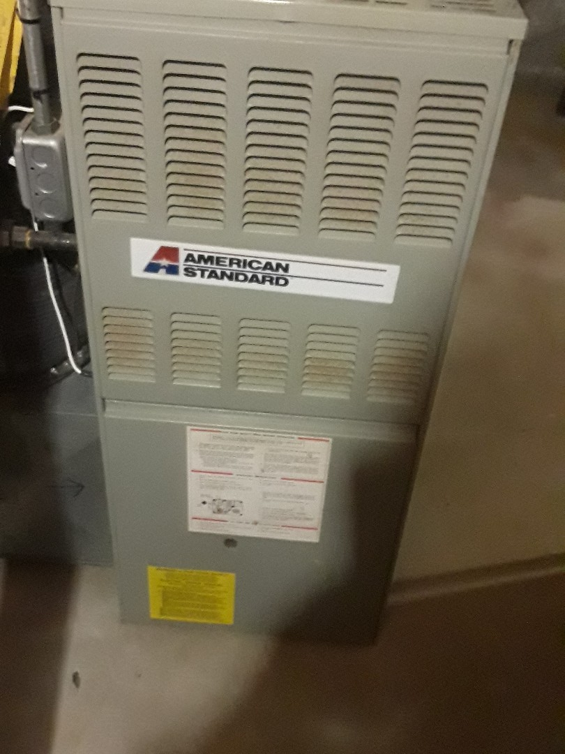 Marlborough, MA - Clean and check American Standard gas furnace