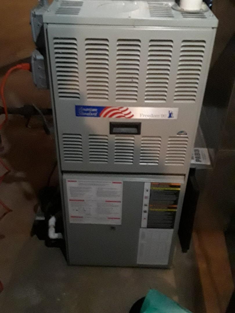 Marlborough, MA - Clean and check American Standard gas heating unit