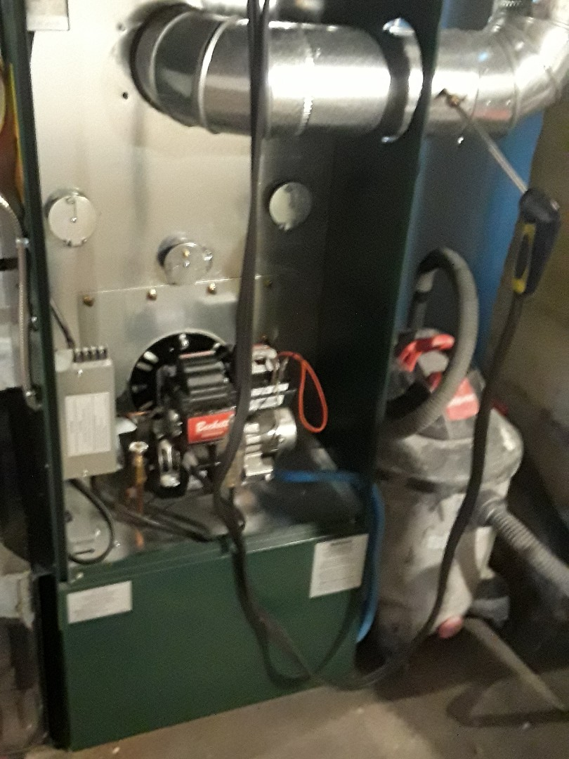 Clean and check Thermoflo oil heating unit