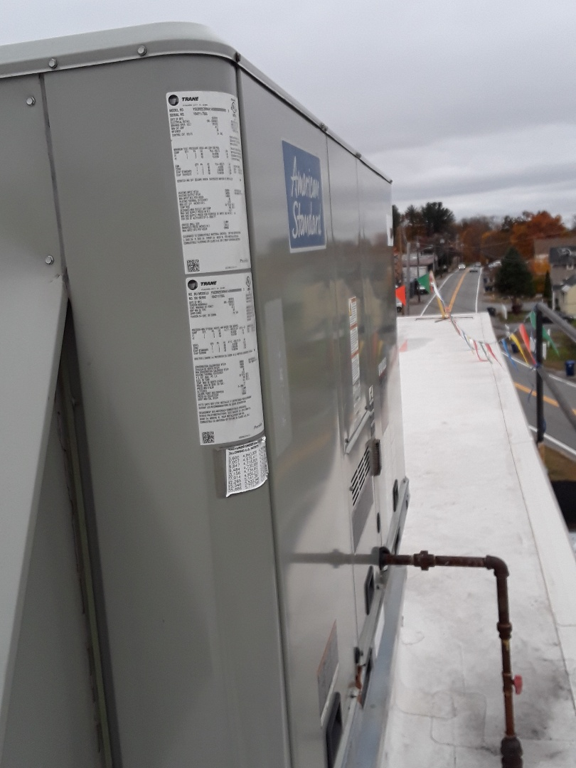 Leominster, MA - Repair on a American Standard rooftop unit