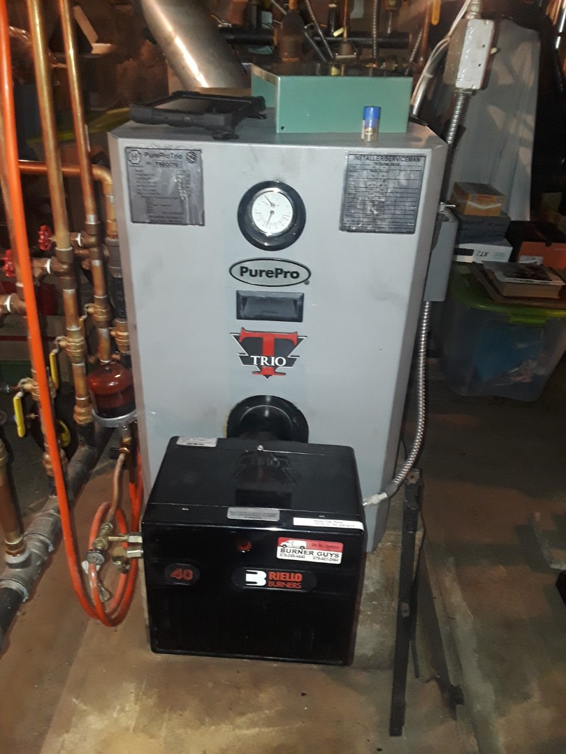 Ashby, MA - Heat repair on a Pure Pro Trio oil boiler