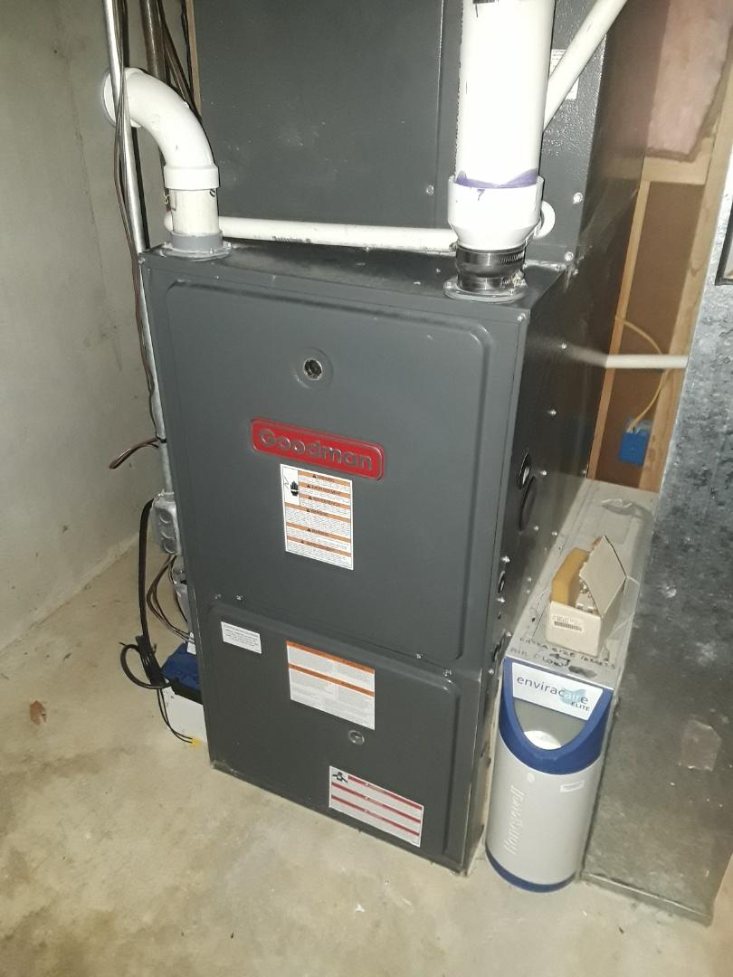 Marlborough, MA - Clean and check Goodman gas furnace