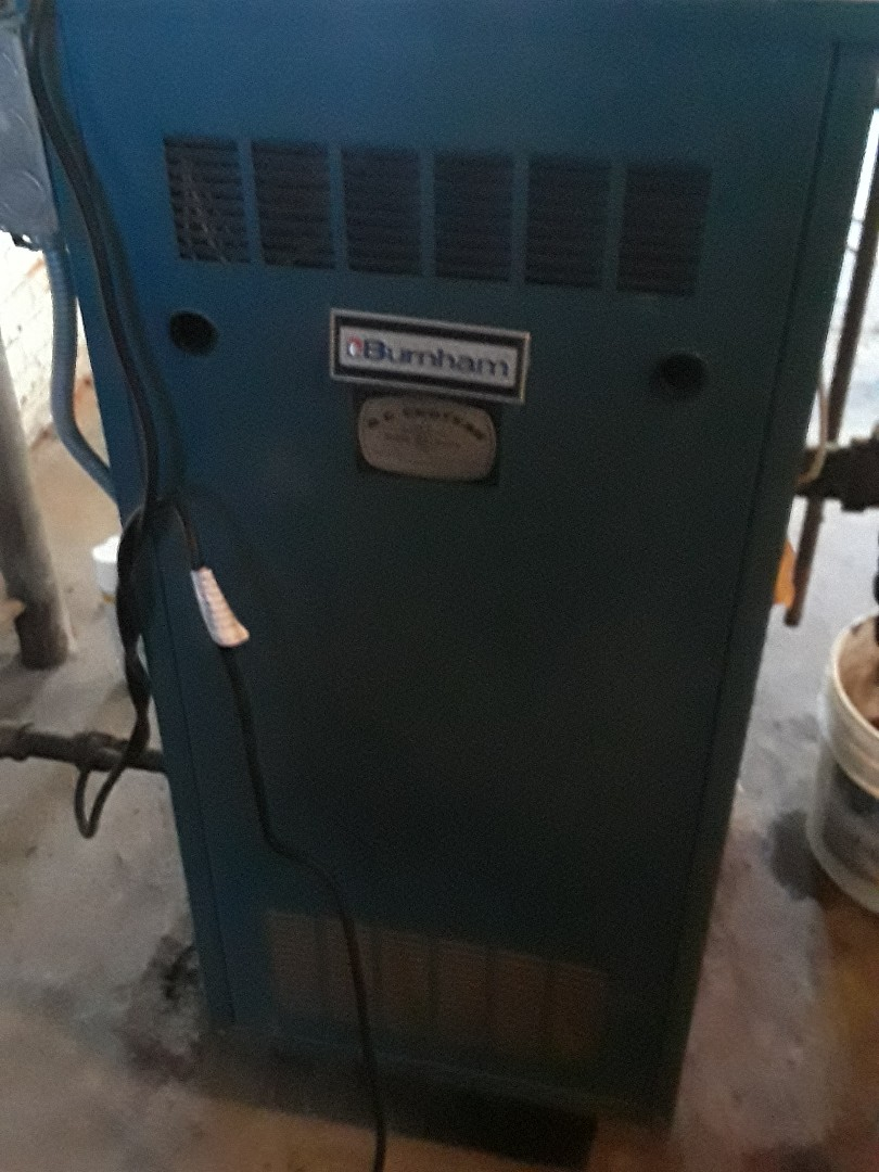 Fitchburg, MA - Clean and checked Burnham gas boiler