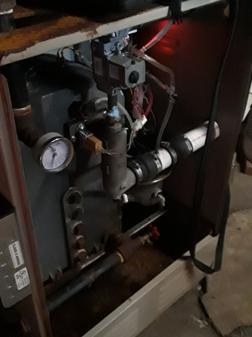 Clean and checked Lennox gas boiler