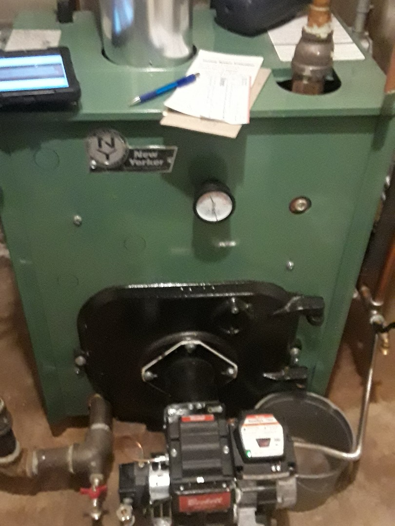 Leominster, MA - Clean and checked New Yorker oil boiler