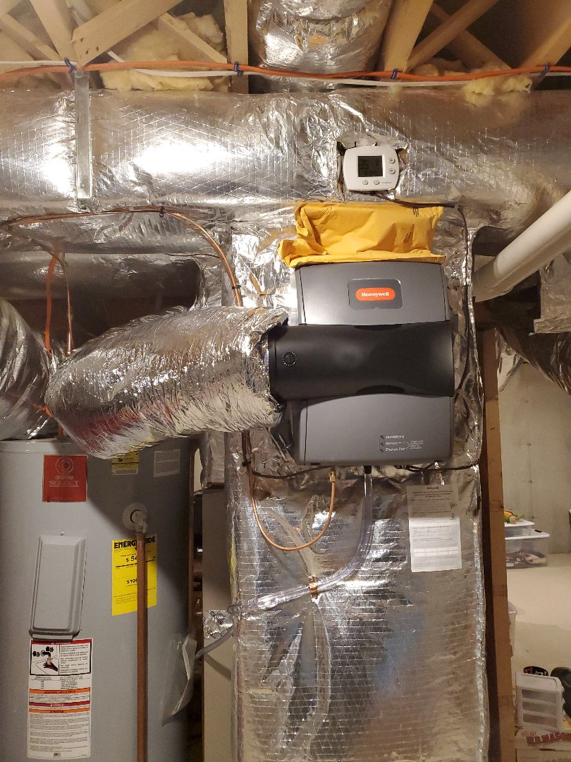 Boylston, MA - Installation  of Honeywell 250 bypass humidifier