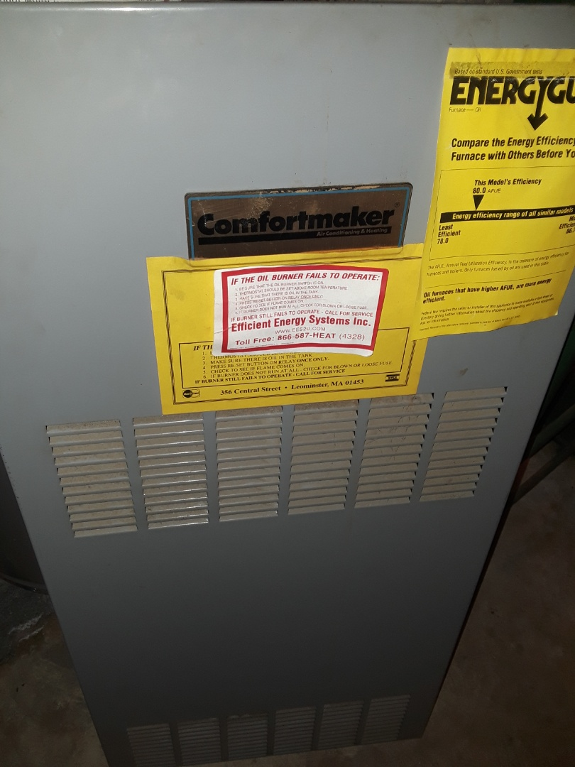 Leominster, MA - Clean and check Comfort Maker oil furnace