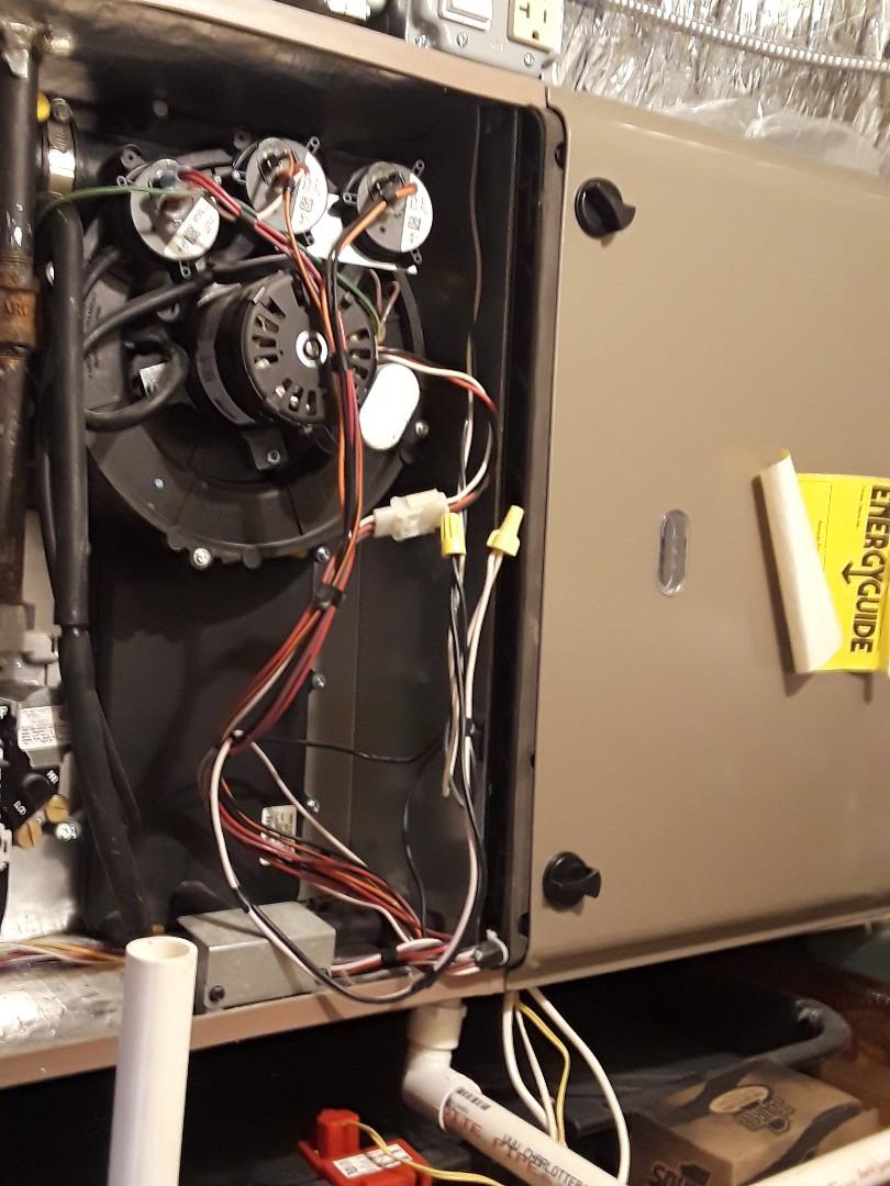 Leominster, MA - Repair on a Goodman gas furnace