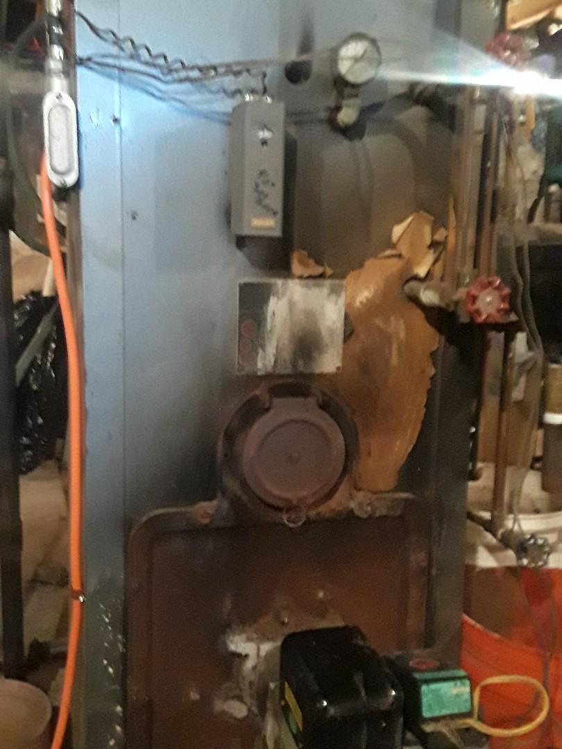 Leominster, MA - Heat repair on a Utica oil boiler