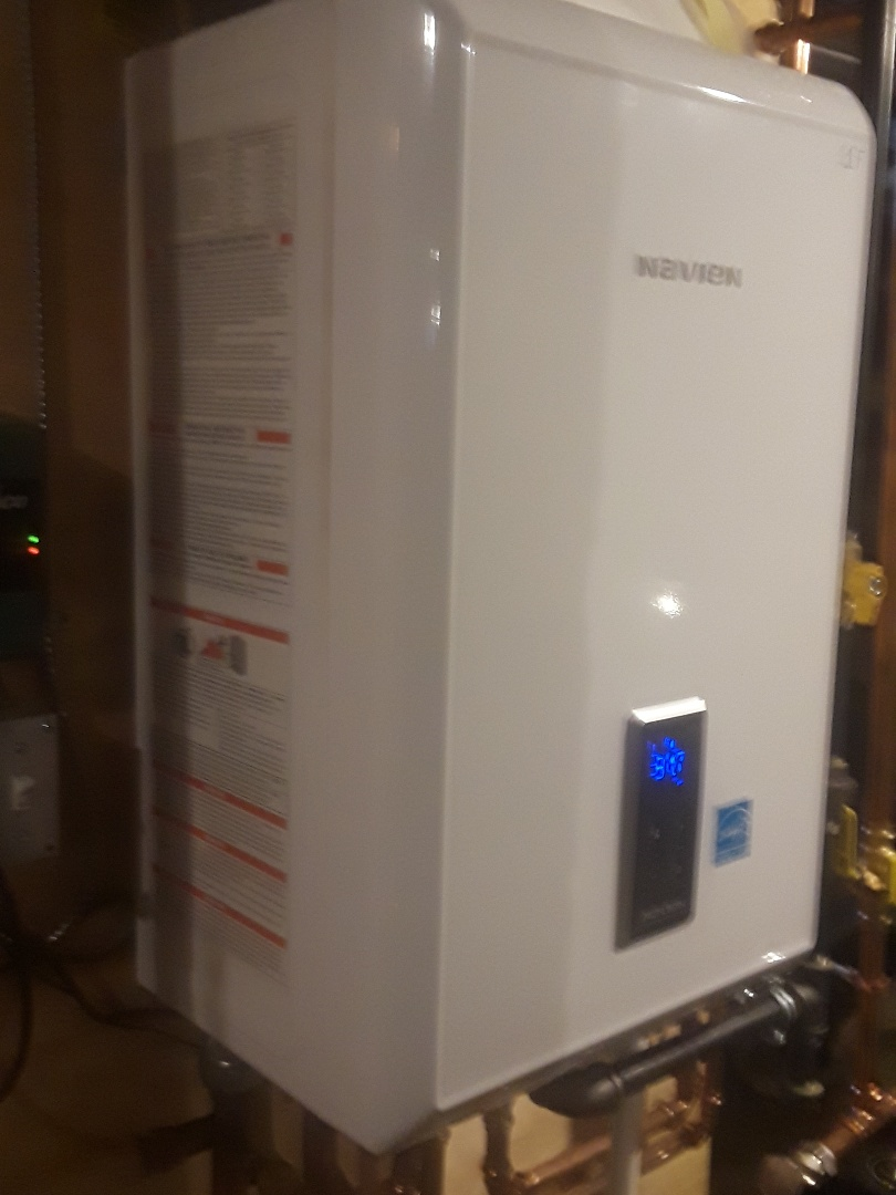 Spencer, MA - Heat repair on a Navien gas boiler