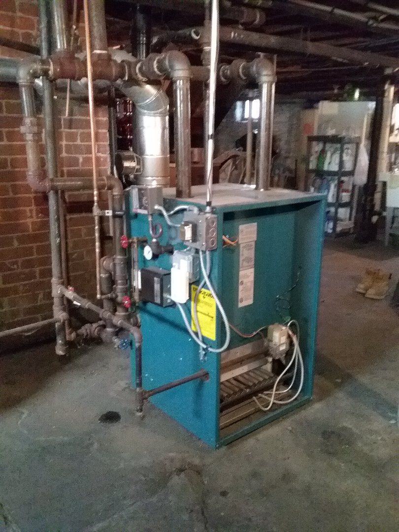 Clinton, MA - Performed preventive maintenance procedures on Burnham gas steam boiler