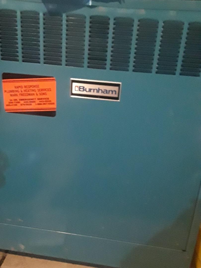 Marlborough, MA - Repair on a Burnham gas boiler