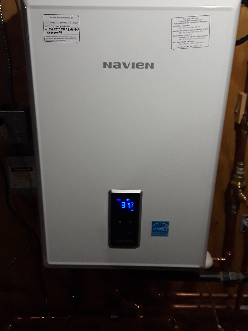 Lancaster, MA - Repair on a Navien Gas boiler