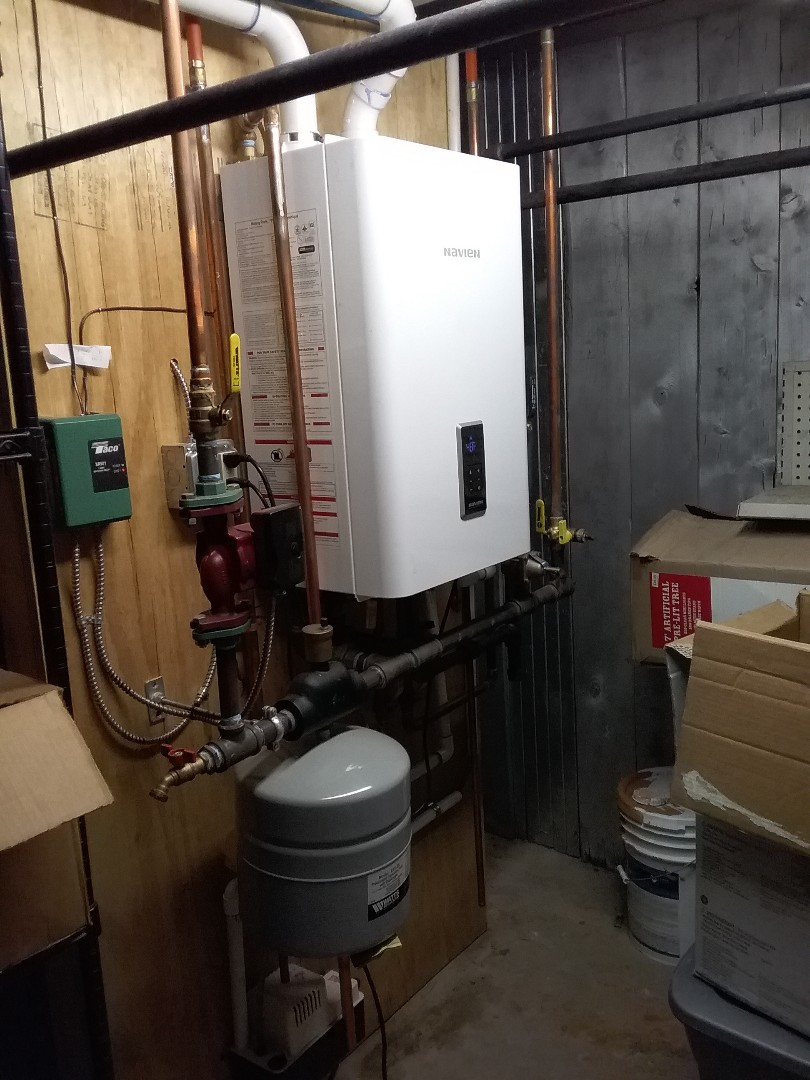 Southbridge, MA - Performed preventive maintenance procedures on navien gas boiler