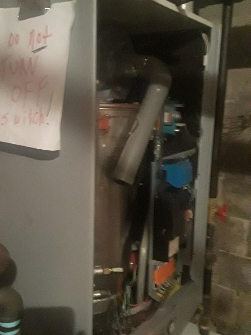 Repair on a TriangleTube gas boiler