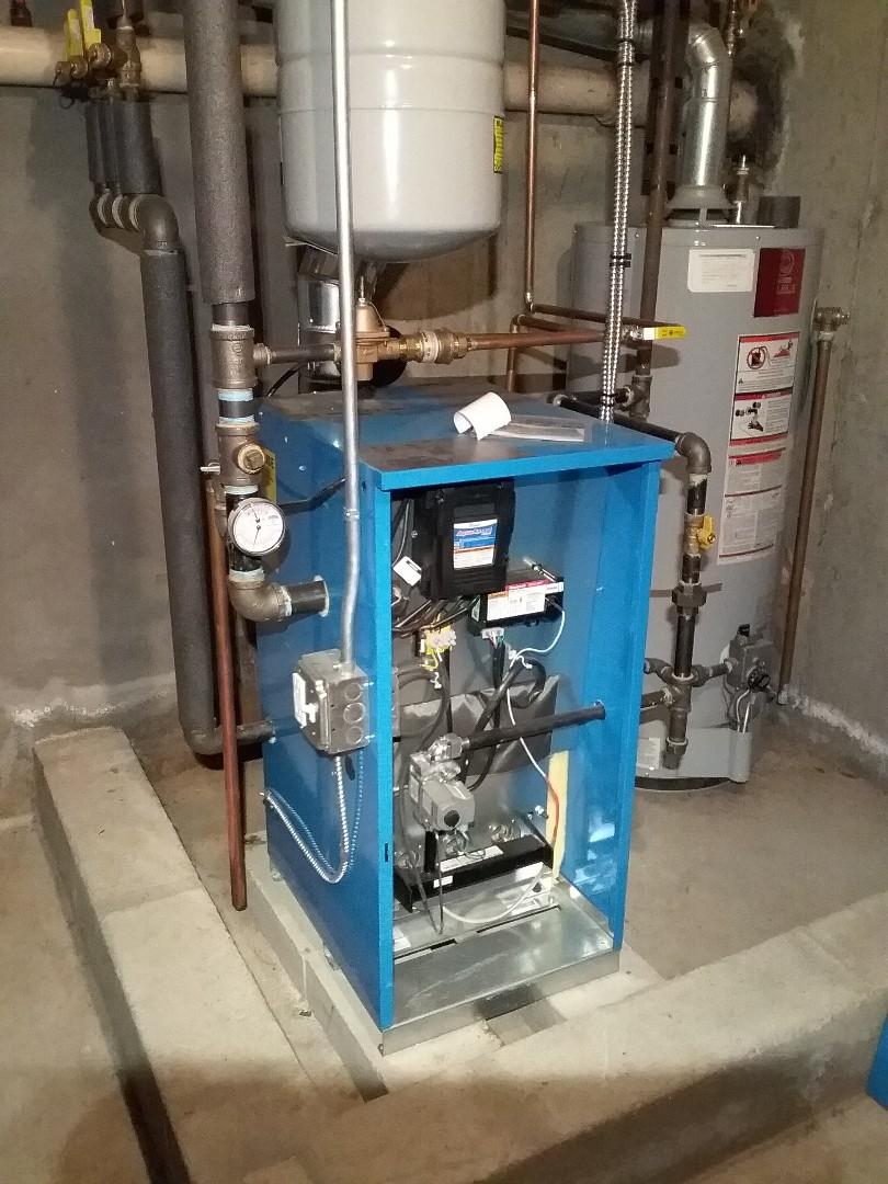 Grafton, MA - Performed preventive maintenance procedures on buderus gas boiler