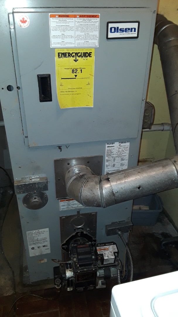 Sterling, MA - Clean ans check Olsen oil furnace