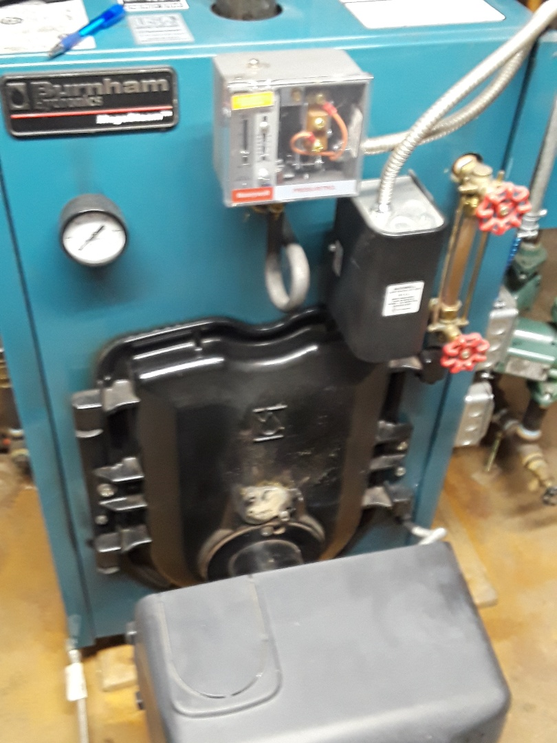 Fitchburg, MA - Clean and check Burnham oil boiler