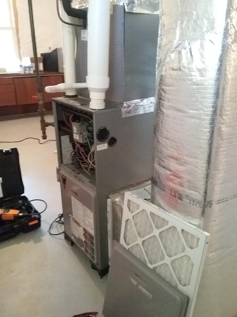 Shrewsbury, MA - Performed preventive maintenance procedures on grandaire furnace in basement.