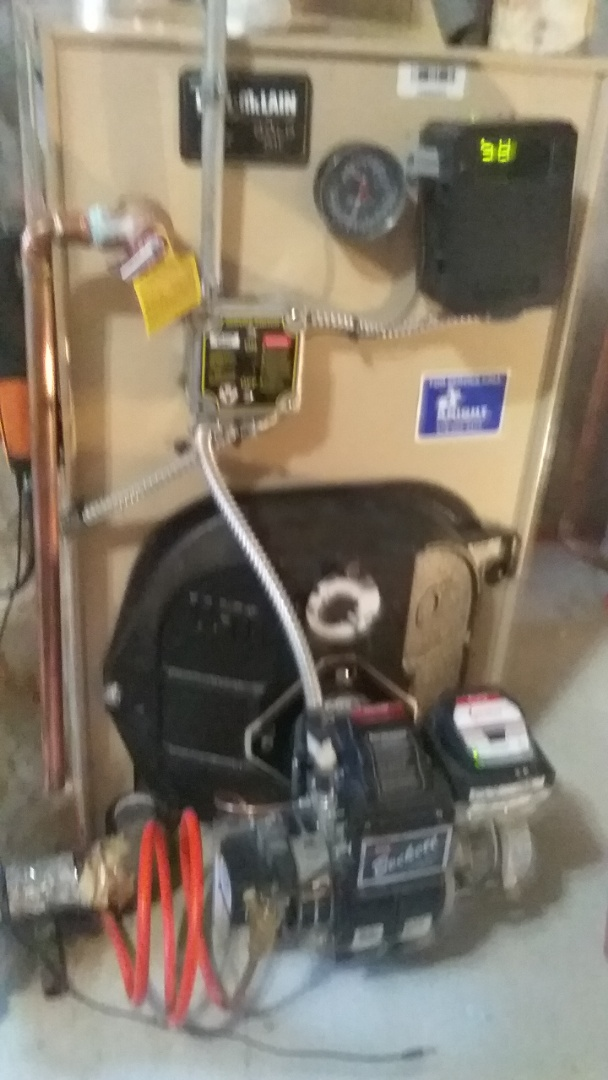 Northborough, MA - Service on a weil mclain  oil boiler