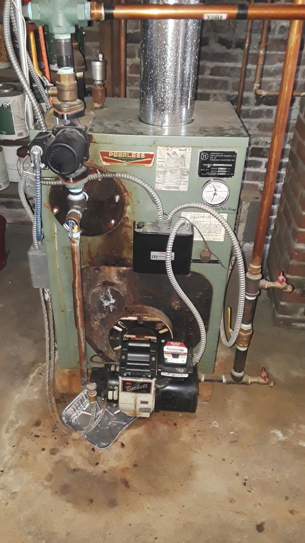 Fitchburg, MA - Repair on a Peerless oil boiler