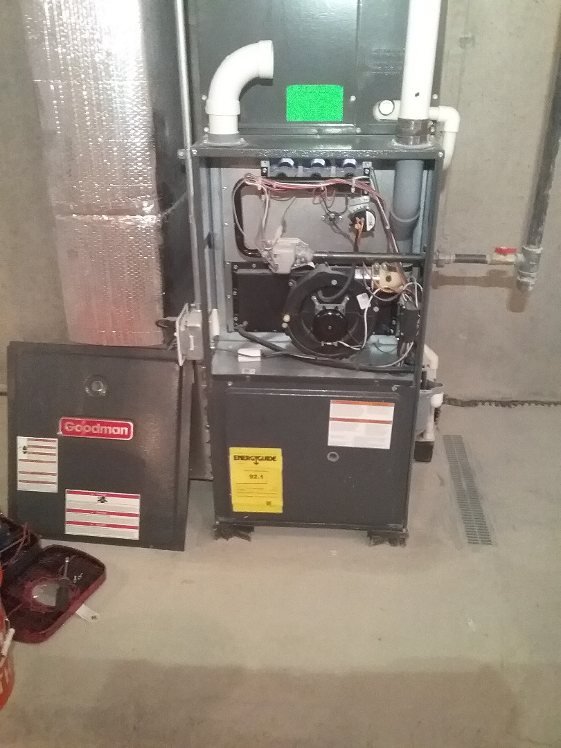 Holden, MA - Performed preventive maintenance procedures on goodman gas furnace and state select gas water heater