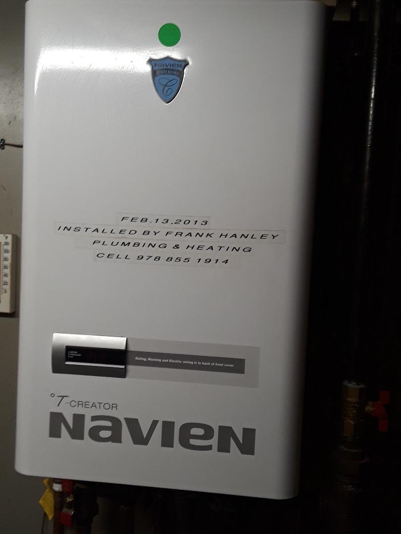 Fitchburg, MA - Repair on a Navien condensing boiler