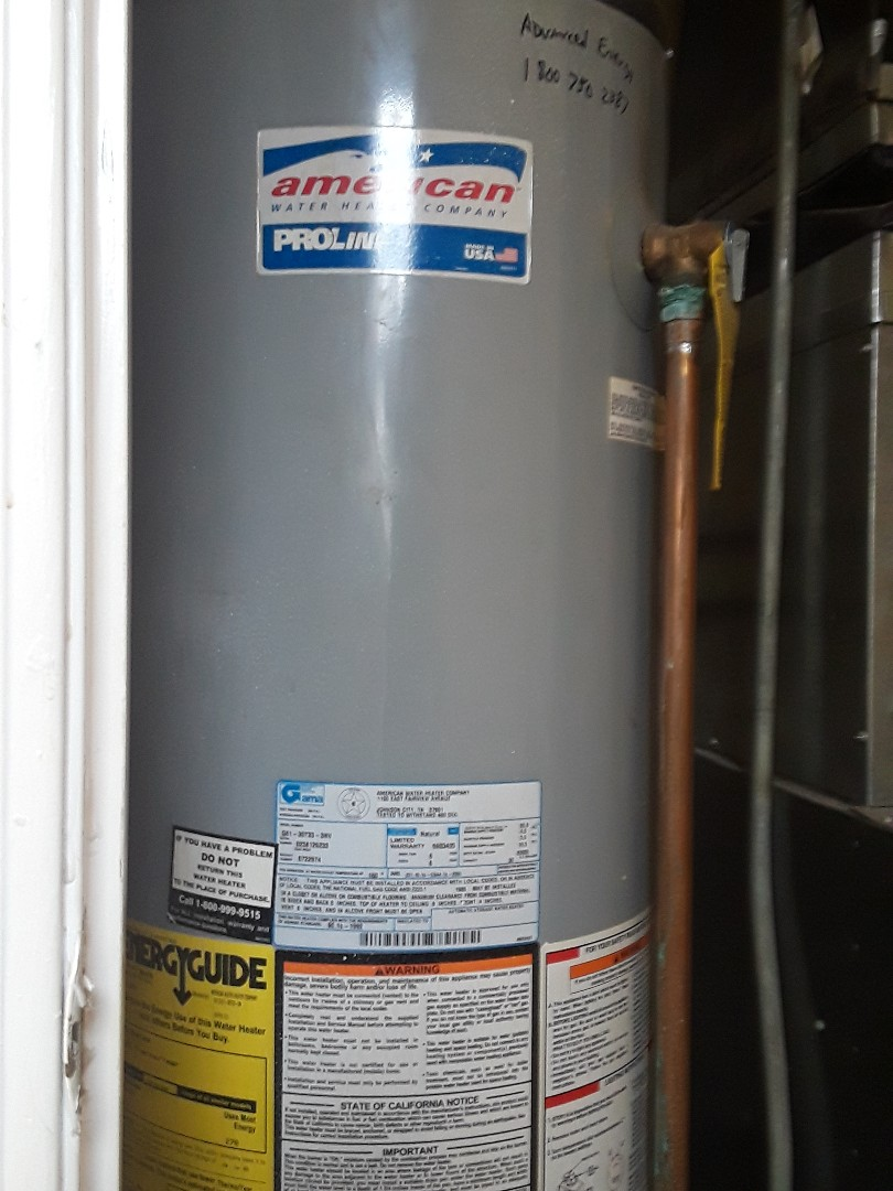 Ayer, MA - Thermocouple replacement on an American ProLine water heater