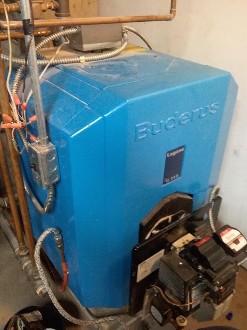 Grafton, MA - Service on a buderus oil boiler
