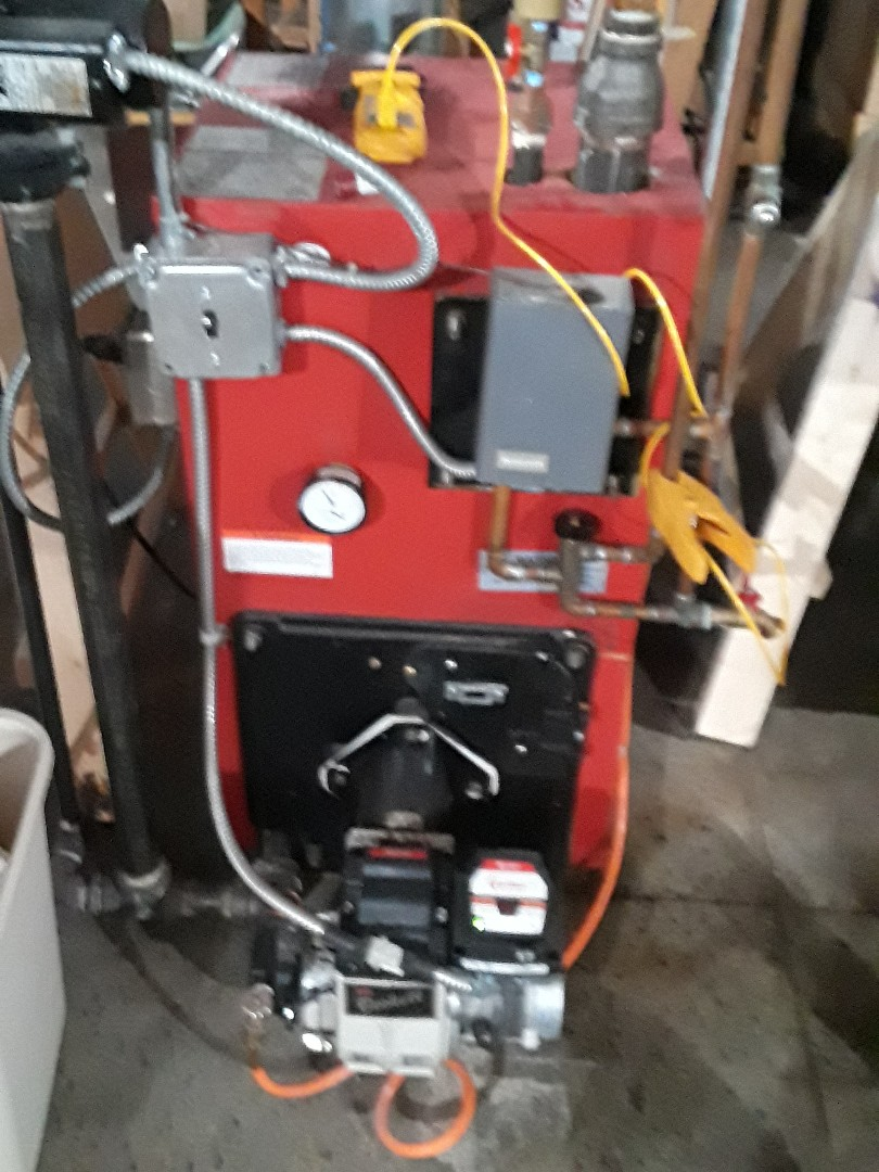 Leominster, MA - Hot water repair on a HB Smith oil boiler