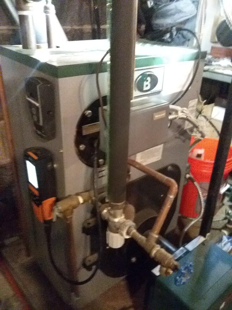 Shrewsbury, MA - Service on a peerless oil boiler