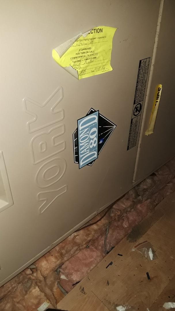 Auburn, MA - Repair on a York gas furnace