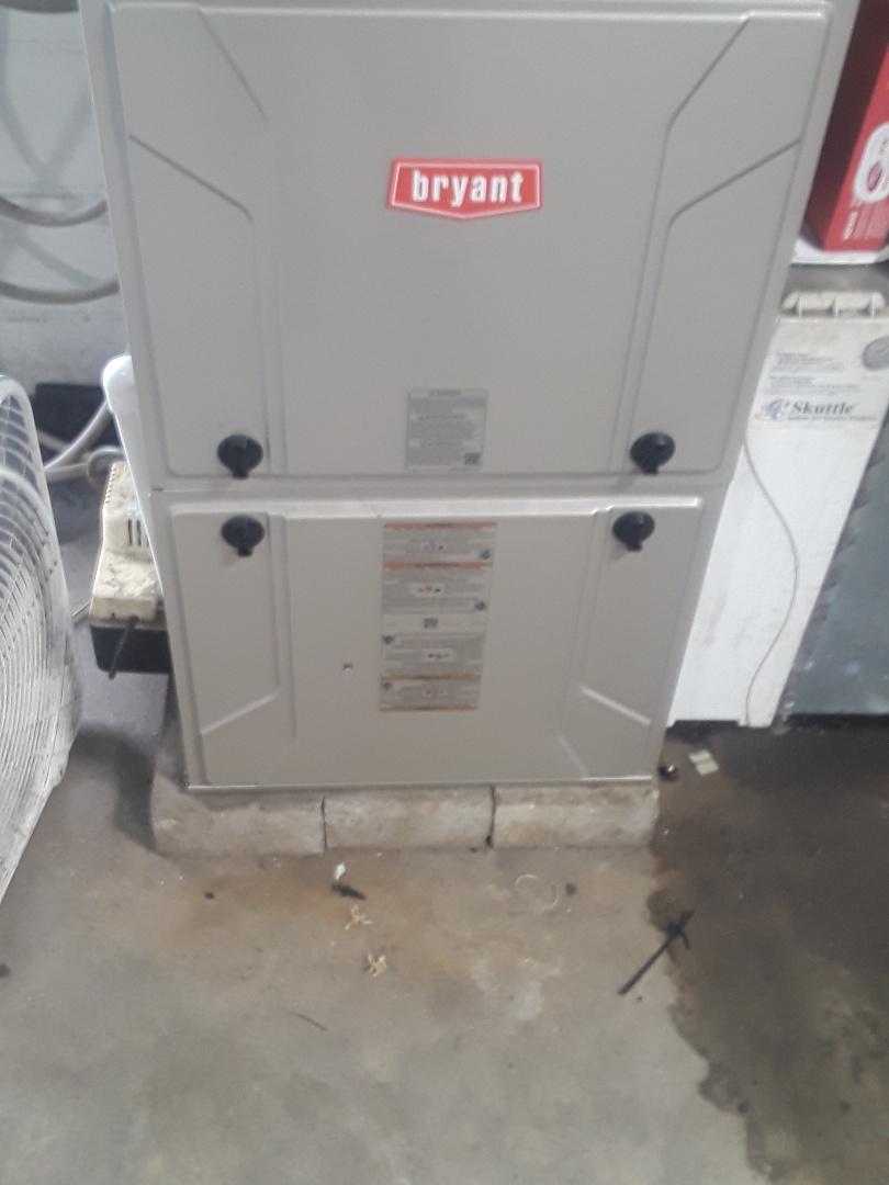 Auburn, MA - Clean and check Bryant gas furnace
