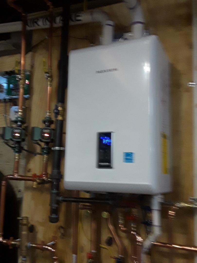 Auburn, MA - Navien high effenciency LP gas boiler install