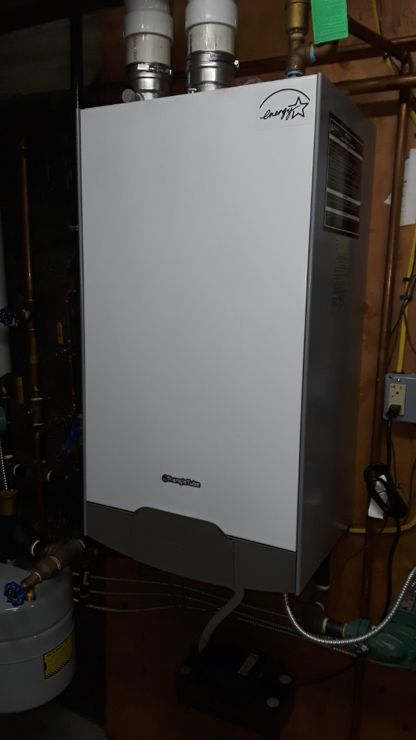 Westborough, MA - Clean and check Triangle Tube gas boiler