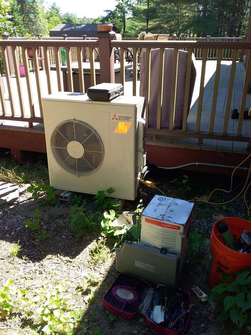 Sturbridge, MA - Diagnosis and repair MITSUBISHI mini-split heat pump unir.