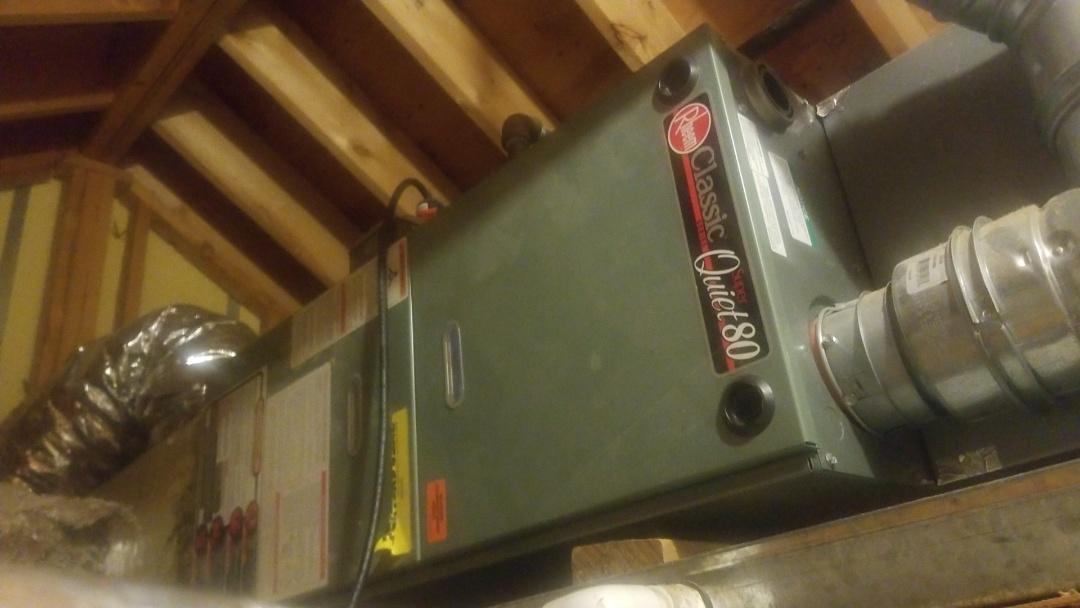 Worcester, MA - Preventative maintenance on a rheem gas furnace