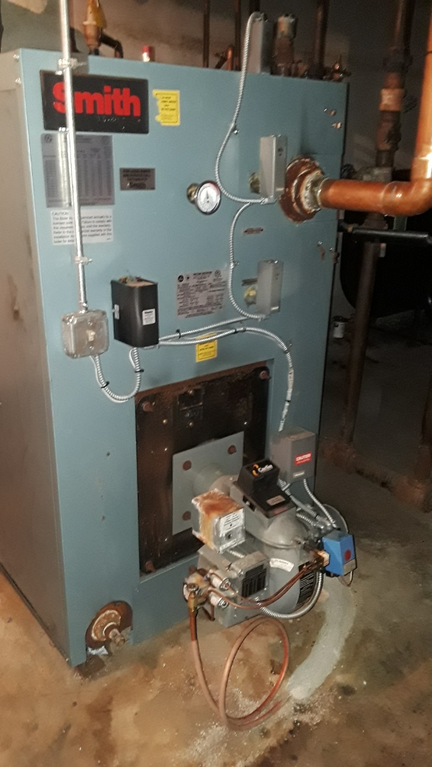 Fitchburg, MA - Clean and check HB Smith commercial oil boiler