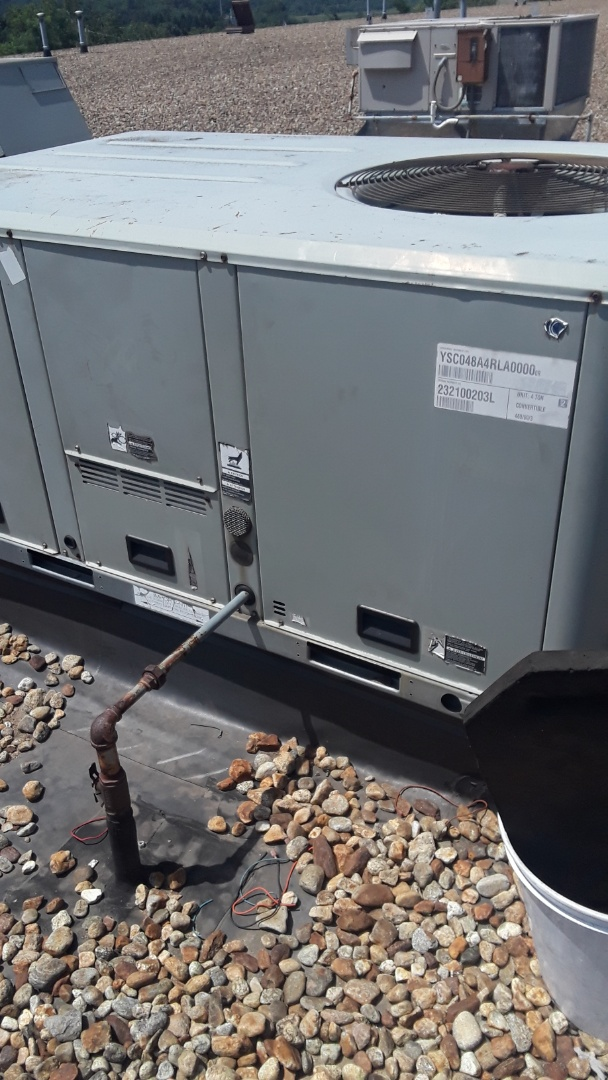 Repair on a Trane rooftop unit