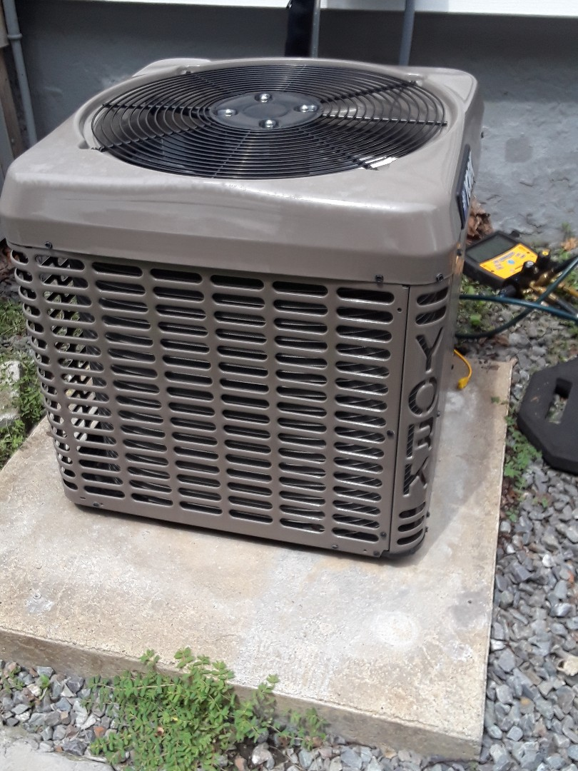 Fitchburg, MA - Clean and check York AC unit