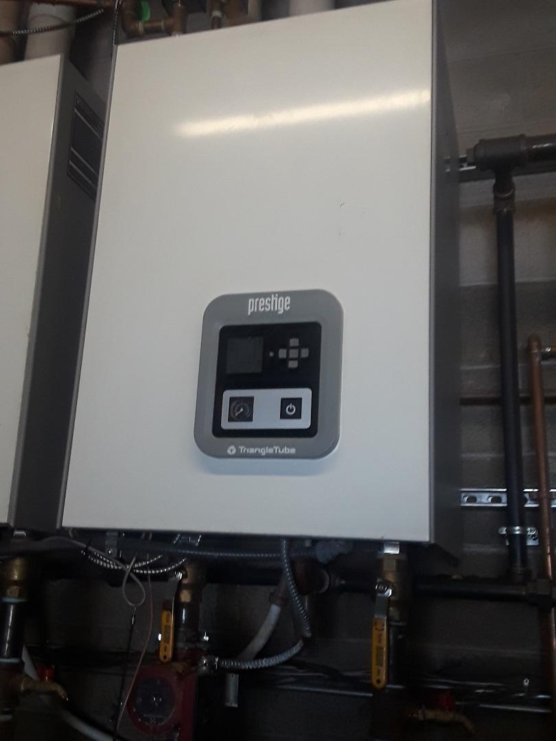 Ashland, MA - Repair on a Triangle Tube gas boiler