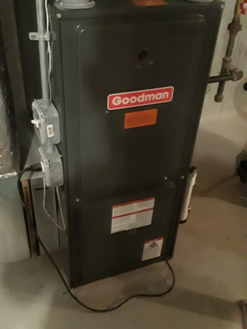 Northbridge, MA - Clean and check Goodman gas heating unit