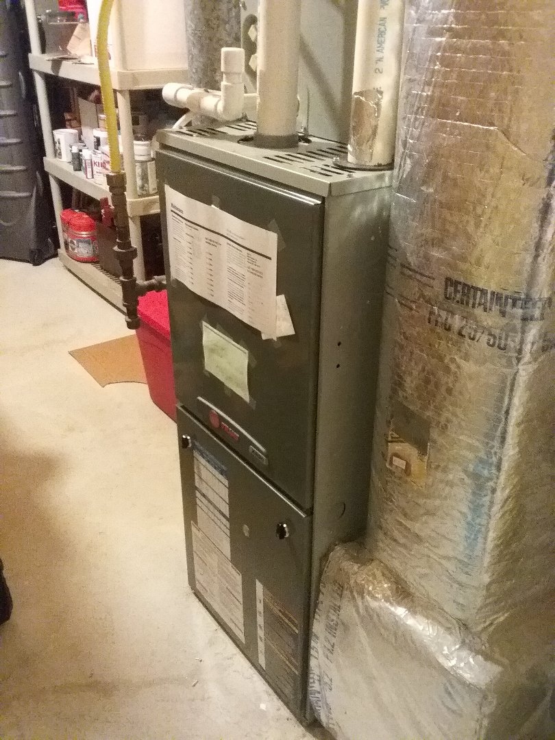 Uxbridge, MA - Performed preventive maintenance procedures on trane gas furnace