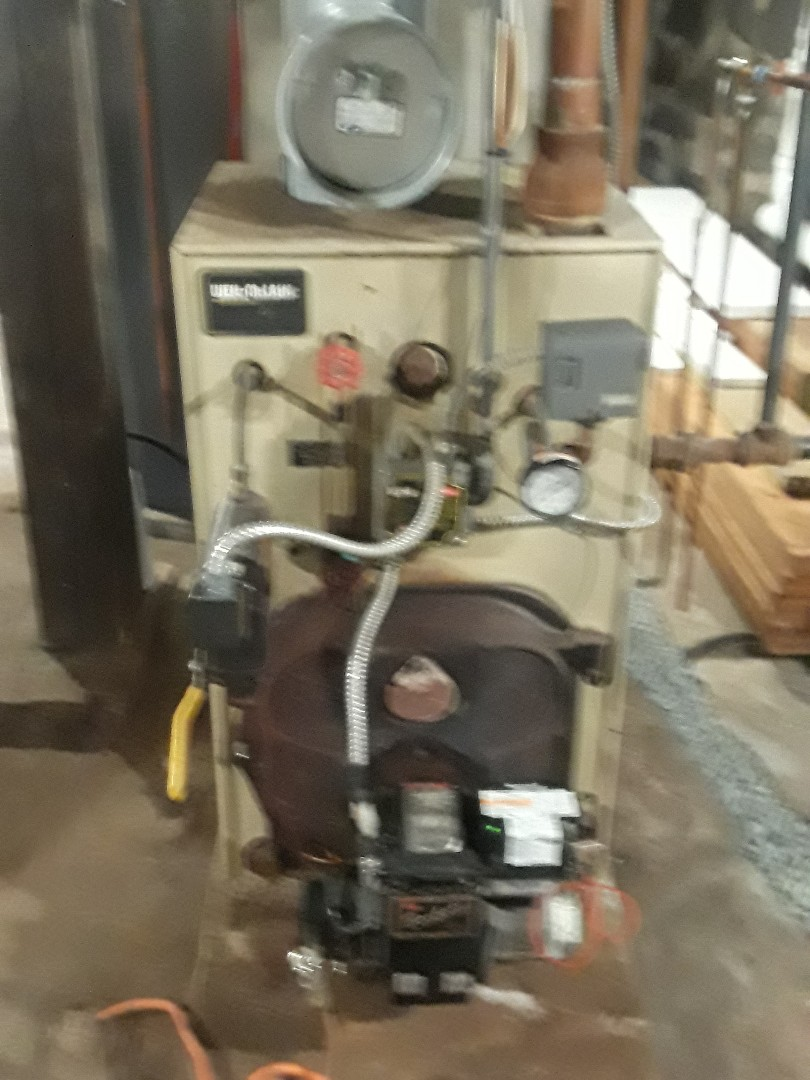 Leominster, MA - Clean and check Weil McClain oil steam boiler